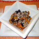 Sweet and sour antipasto with peppers, onions and tuna