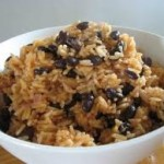 Black turtle beans with rice