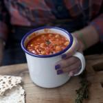 Salsiccia e stufato di fagioli