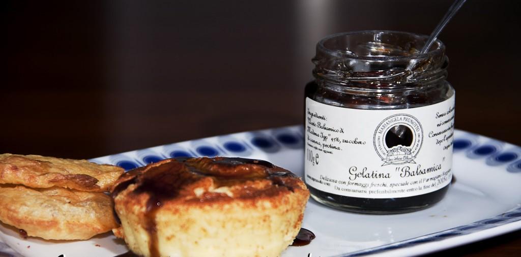 Budini al parmigiano con gelatina balsamica prunotto 1