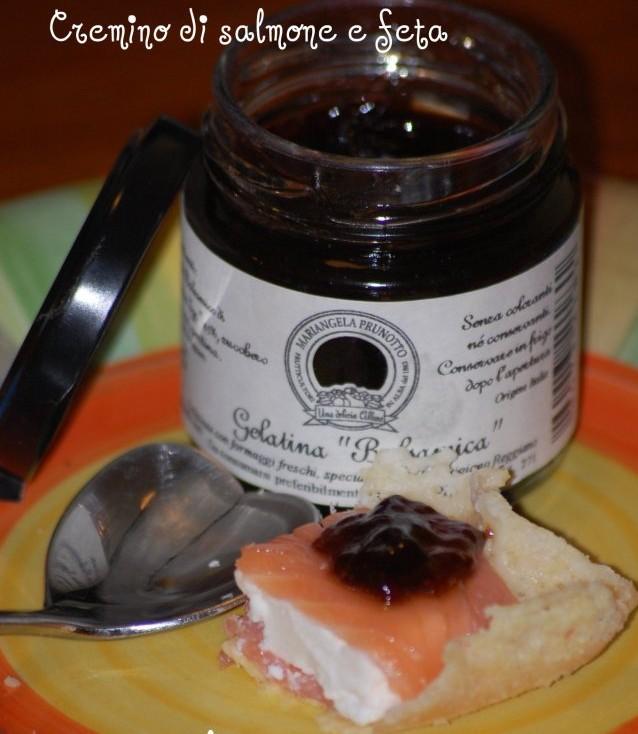cremino di salmone e gelatina balsamica prunotto
