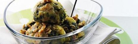 Mini crocchette di riso e spinaci ai fiocchi di avena
