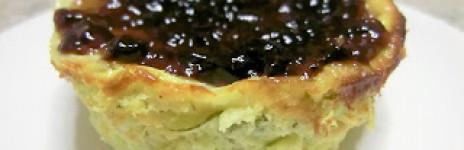 Mini cheesecake salati alla ricotta e zucchine con gocce di aceto Prunotto