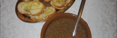 Bruschetta con le lenticchie