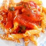Pasta mantecata al lardo con ricotta salata