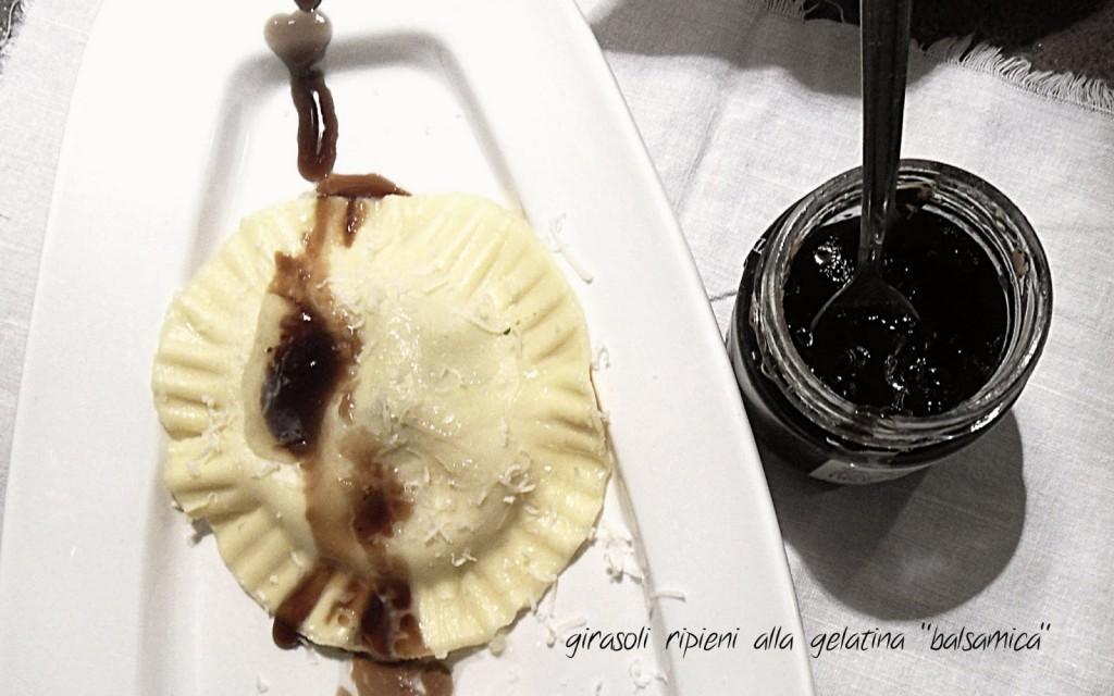 Girasole e mezze lune alla gelatina di balsamico Prunotto 1