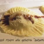 Girasole e mezze lune alla gelatina di balsamico