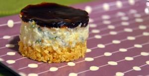 Mini cheesecake salati con gorgonzola e gelatina al balsamico Prunotto