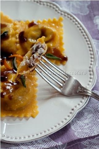 Tortelli zucca gelatina balsamica prunotto 1