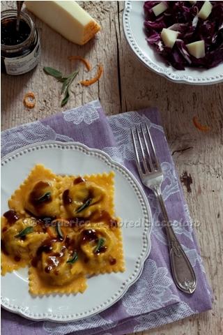 Tortelli zucca gelatina balsamica prunotto