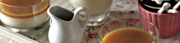 Panna Cotta con Salsa al Burro Salato e Miele di Castagno