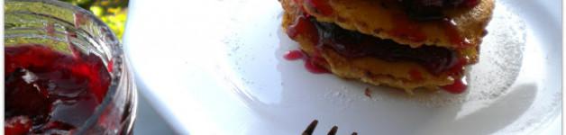 Pancrepes alla marmellata di prugne