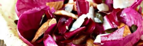 Insalata mista di radicchi con pollo glassato alla gelatina di balsamico Prunotto
