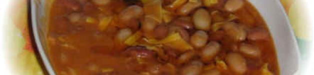 Fagioli Ruviotti con bocconcini di carne