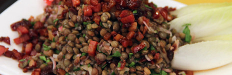 Lentils with Mushrooms and Spinach